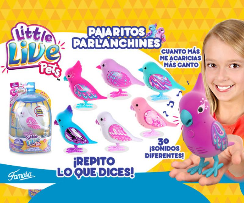 LITTLE LIVE PETS PAJARITOS PARLANCHINES