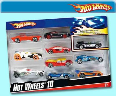 HOTWHEELS PACK 10 VEHICULOS