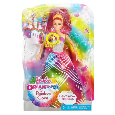 BARBIE PRINCESA LUCES DE ARCOIRIS