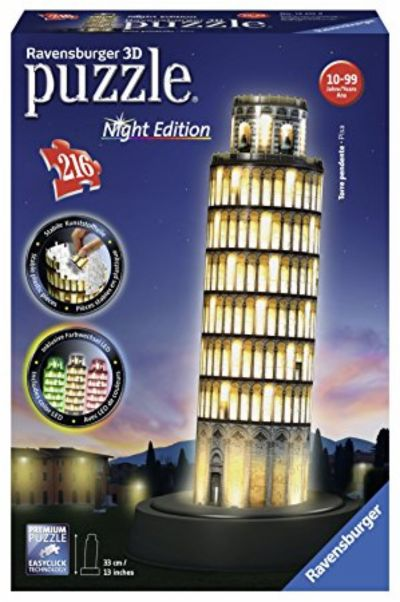 PUZZLE 3D BUILDING TORRE DE PISA-NIGHT EDITION