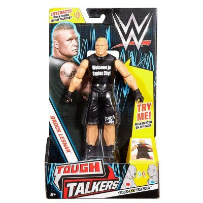 WWE FIG. Y ACCESORIO TOUGH TALKERS BROCK LESNAR