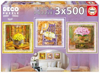 3x500 Enchanted Moments, Gail Marie ´Deco Puzzle´ 17095