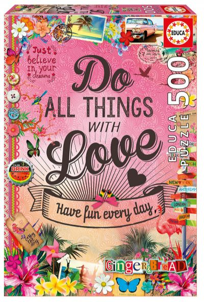 PUZZLE 500 Do All Things With Love  17086