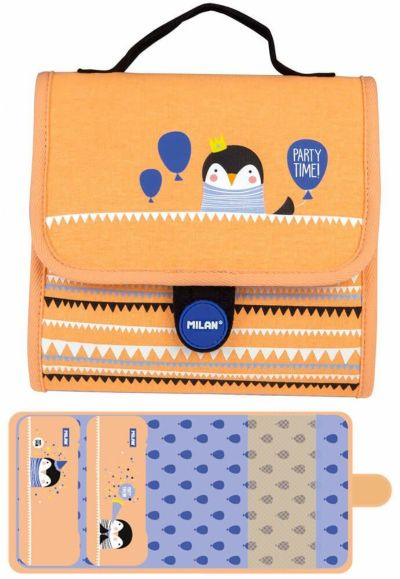Multiestuche Milan Party Time Orange Multipencilcase 19 Piezas
