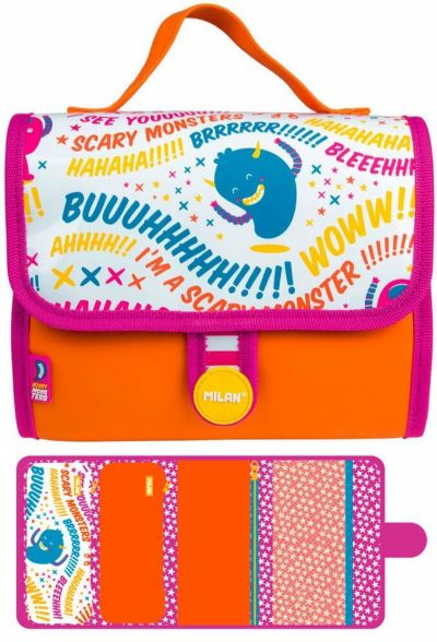 Multiestuche Milan Scary Monsters II Multipencilcase 19 Piezas