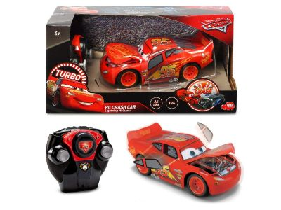 CARS 3 RC RAYO MCQUEEN CRASH CAR 1:24