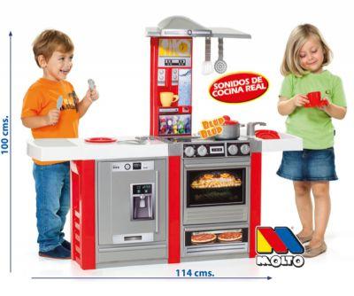 Cocina Infantil Master Kitchen Electronic XL Complementos Cocina + Set de Accesorios