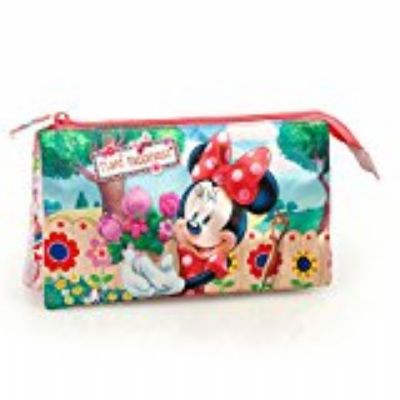 Estuche , 3 compartimentos MINNIE