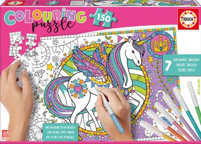 PUZZLE 150 UNICORNIO COLOURING 17828