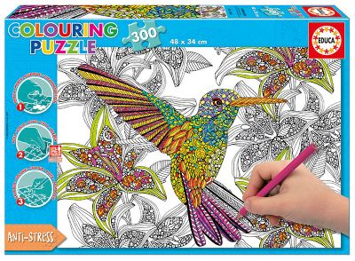 PUZZLE 300 HUMMINGBIRD ´COLOURING PUZZLE´ 17083
