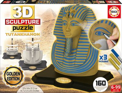 3D SCULPTURE PUZZLE TUTANKHAMON - GOLD EDITION 17335