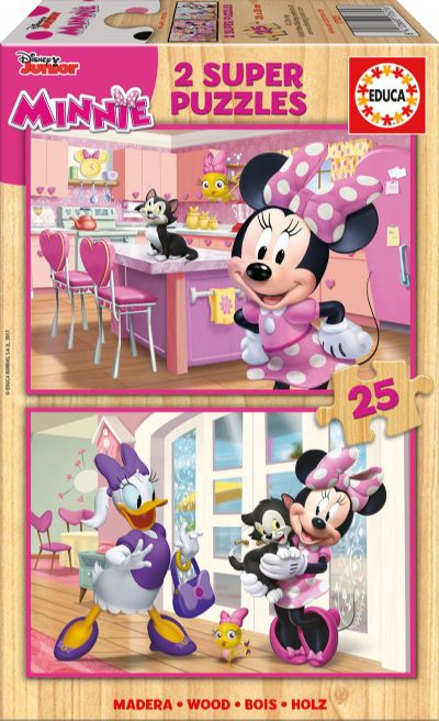 PUZZLE 2X25 MINNIE AYUDANTES FELICES 17625