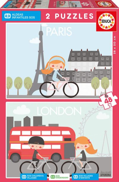 PUZZLE 2X48 PARIS & LONDON, APANONA 17726