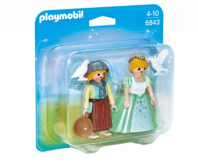 PLAYMOBIL DUO PACK PRINCESA Y GRANJERA 6843