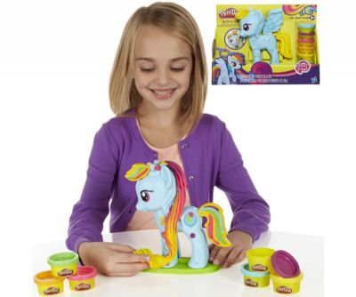 PLAYDOH RAINBOW DASH STYLE SALON