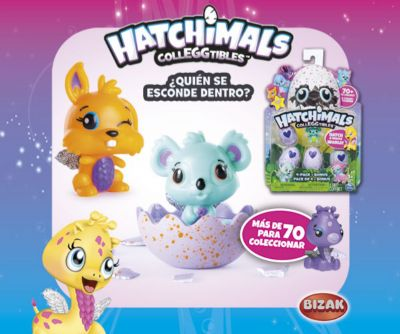 HATCHIMALS COLECC 4 HUE+1FIG