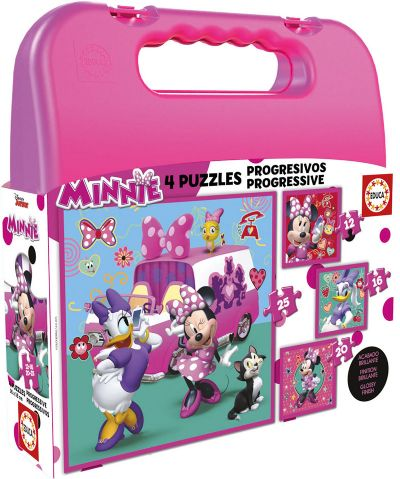 MALETA PUZZLES PROGRESIVOS MINNIE HAPPY HELPERS 12-16-20-25-17638