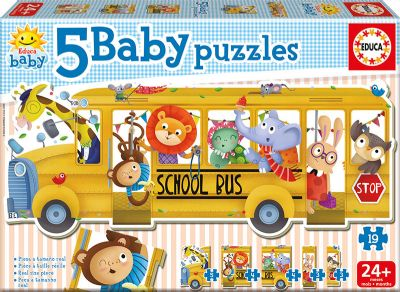 PUZZLE SCHOOL BUS/ ANIMALS 17575