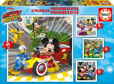 PUZZLES PROGRESIVOS MICKEY Y LOS SUPERPILOTOS 12+16+20+25-17629