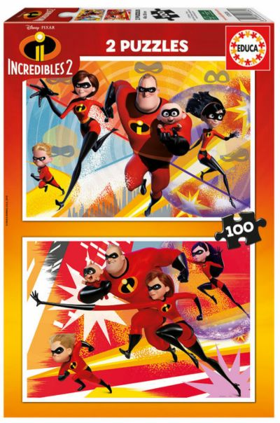 PUZZLE 2X100 THE INCREDIBLES 2 17636