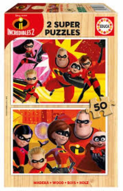 PUZZLE 2X50 THE INCREDIBLES 2 17626