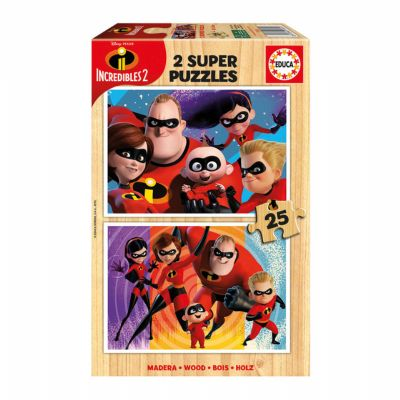 PUZZLE 2x25 THE INCREDIBLES 2 17624