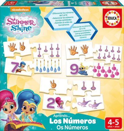 APRENDO LOS NÚMEROS SHIMMER AND SHINE 17711
