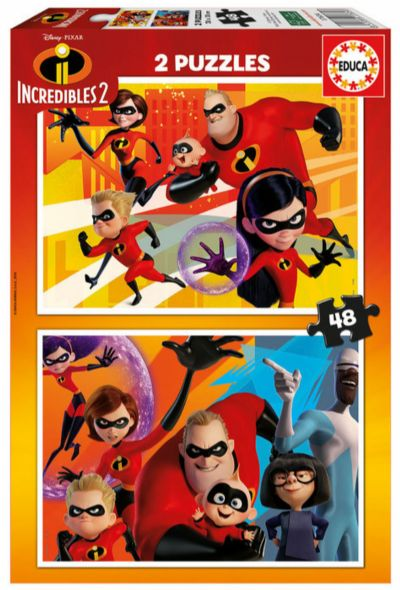 PUZZLE 2X48 THE INCREDIBLES 2 17634