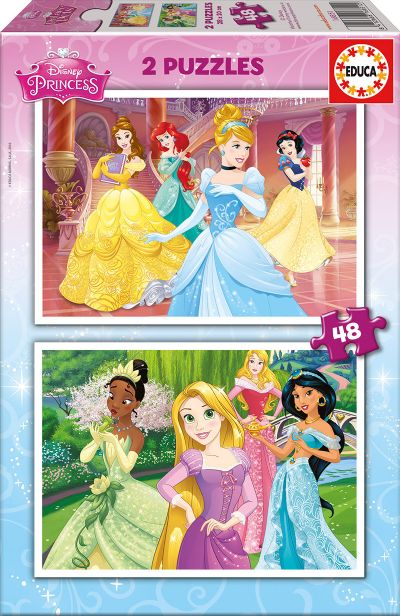 PUZZLE 2x48 Disney Princess 16851
