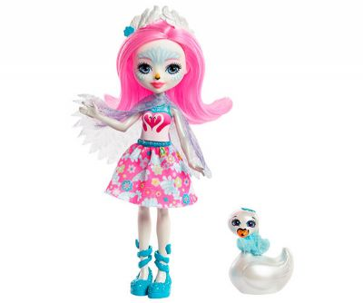 ENCHANTIMALS SAFFI SWAN - MUÑECA Y ANIMAL
