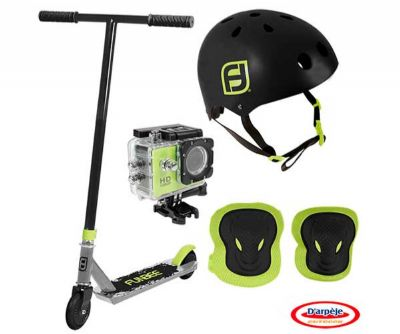 PATINETE FREESTYLE+CASCO BOL+CAMARA HD+RODILLERAS+CODERAS