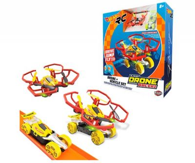 SET DRONE y VEHICULO HOT WHEELS COMPATIBLE CON PISTA HW