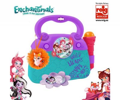 ENCHANTIMALS BOLSO CON MICRO, LUCES, RITMOS Y CONEXION MP3