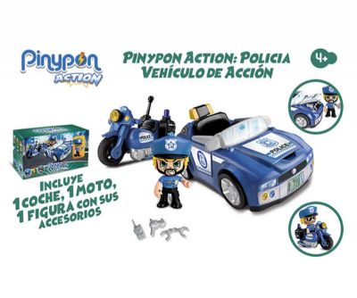 PINYPON ACTION. POLICIA VEHICULOS DE ACCION