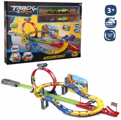 PISTA LOOPING COMPLETA + 4 COCHES