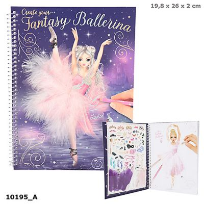 Create Your FANTASYModel Colouring Book BALLETT