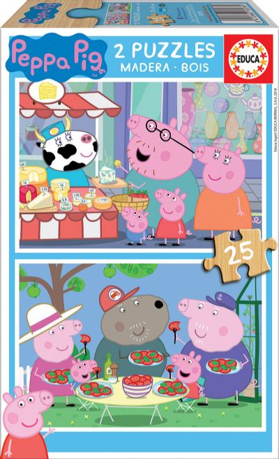 PUZZLE 2X25 PEPPA PIG 18078