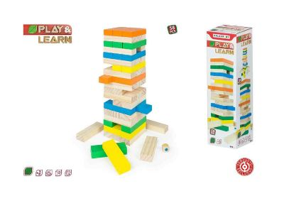TORRE BLOCS MADERA COLOR BABY