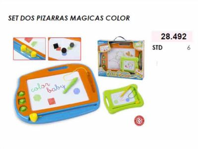 SET DOS PIZARRAS MAGICAS COLOR COLOR BABY