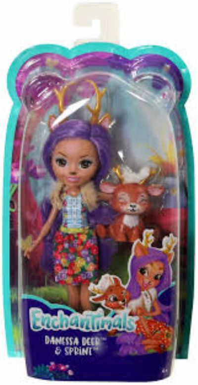 Muñeca Enchantimals Danessa Deer & Sprint