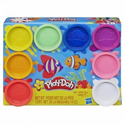 PLAY DOH PACK 8 BOTES (Colores surtidos)