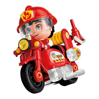 Moto de Bombero Pin y Pon Action