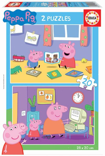 PUZZLE 2X20 PEPPA PIG 18087