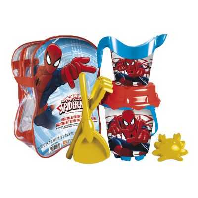 MOCHILA CUBO PLAYA CASTILLO 18 CM SPIDERMAN