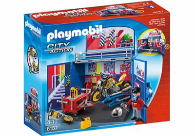 PLAYMOBIL COFRE MOTOS DE PLAYMOBIL 6157