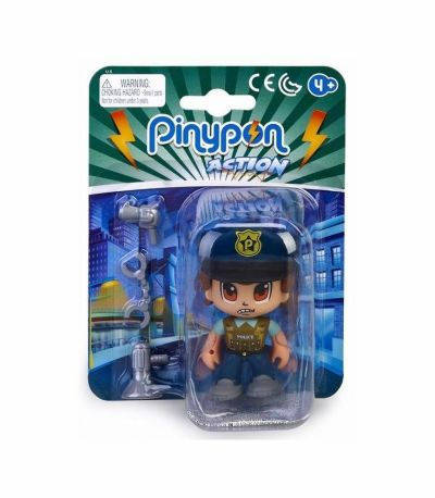 Pin y Pon Action Figura Police Squad Boss
