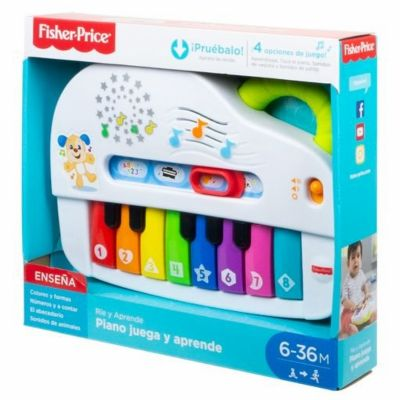 ORGANO PIANO FISHER PRICE CON LUNES Y SONIDOS