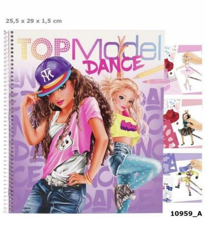 CUADERNO PARA COLOREAR TOP MODEL DANCE