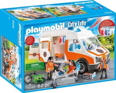 Playmobil City Life  Ambulancia con Luces 33-70049