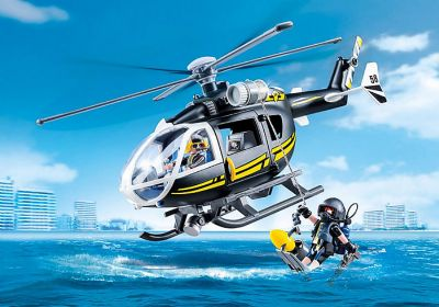 Playmobil City Action Helicóptero de las Fuerzas Especiales 33-9363